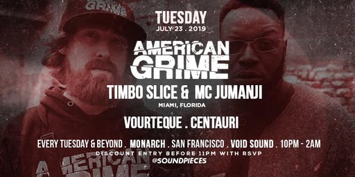 American Grime, Vourteque, Centauri at Soundpieces SF