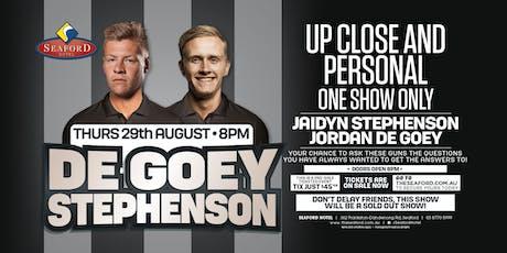 De Goey & Stephenson LIVE at Seaford Hotel! entradas