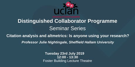 Distinguished Collaborator Lunchtime Seminar: Julie Nightingale tickets