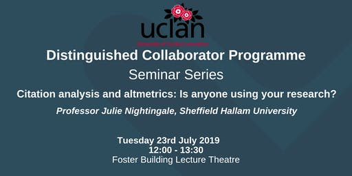 Distinguished Collaborator Lunchtime Seminar: Julie Nightingale