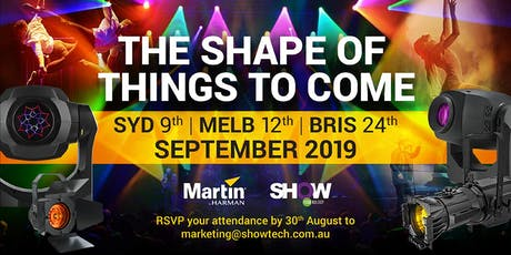 MELB Martin Event - The Shape of Things to Come - 12 Sept 2019 tickets