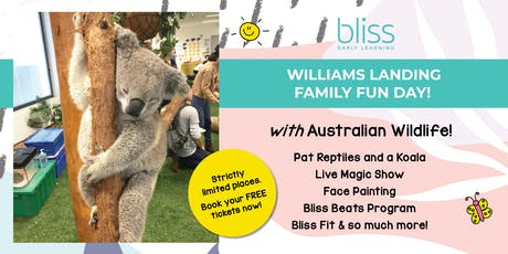 Reptiles, Koala, Face Painting and more at Bliss Williams Landing! tickets