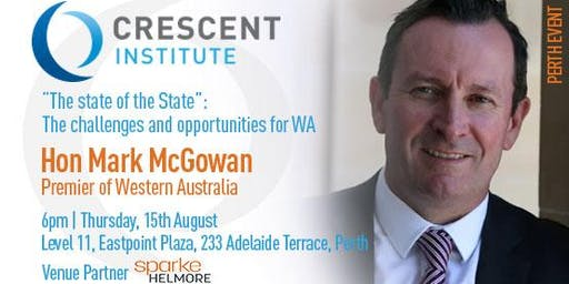 Mark McGowan at the Crescent Institute
