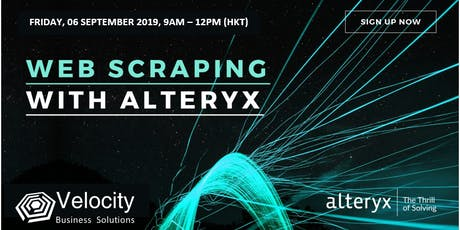 Alteryx Web Scraping Workshop (06 September 2019) tickets