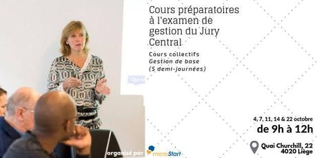 Formation à la Gestion Cycle Octobre billets