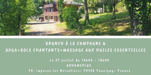 Brunch & Massage aux huiles essentielles ou réflexologie (30')