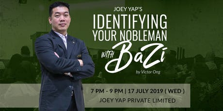 Joey Yap's Identifying Your Nobleman With BaZi  tickets