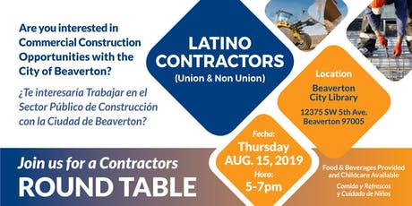 Latino Contractors Round Table tickets