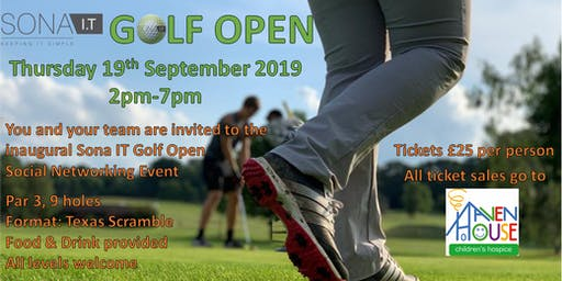 Sona IT- Inaugural Golf Open & Networking Event