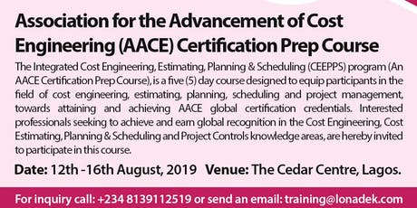 Integrated Cost Engineering, Estimating, Project Planning & Scheduling Training (AACE Certification Prep Course) tickets