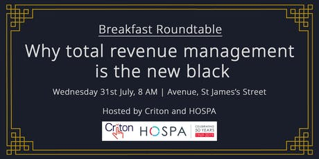 Breakfast Roundtable: Why Total Revenue Management Is The New Black tickets