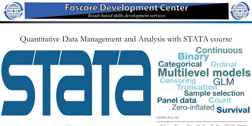 Quantitative Data Management and Analysis with STATA