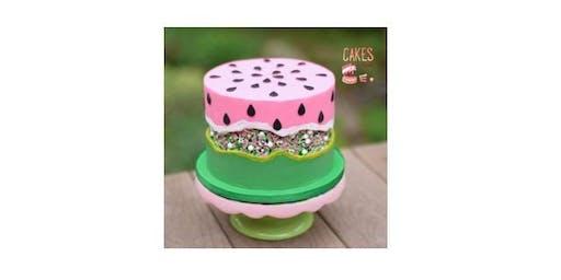 Watermelon Fault Line Cake Decorating Workshop