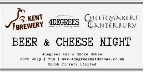 Beer & Cheese Night - With Kent Brewery & Cheese Makers of Canterbury tickets