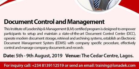Document Control & Management (ILM UK Certified) tickets