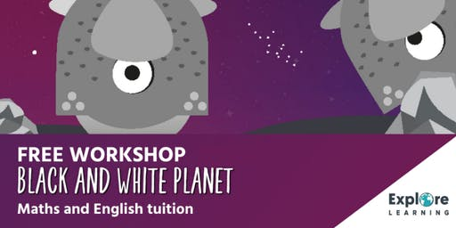 Explore Learning - Black and White Planet workshop - Sutton Central Library