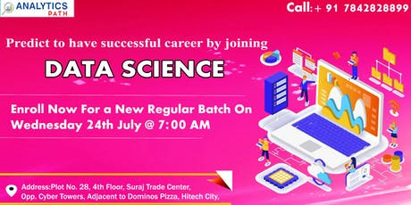 Register For New Regular Batch On Data Science From 24th July 2019 at 7 AM tickets
