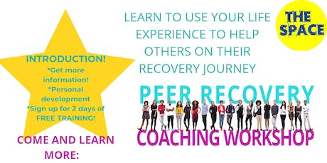 peer to peer recovery coach  training introduction tickets