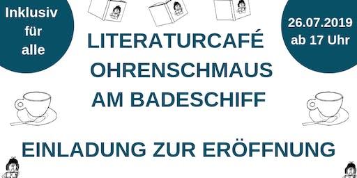 Eröffnung inklusives Literaturcafé Ohrenschmaus am Badeschiff