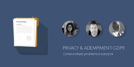 Privacy e adempimenti GDPR: come evitare problemi e sanzioni biglietti