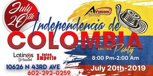 INDEPENDENCIA DE COLOMBIA ARIZONA