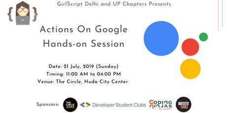Actions On Google  Hands-on Session tickets