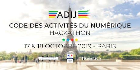 Hackathon de l'ADIJ - Code des Activités du Numérique  billets