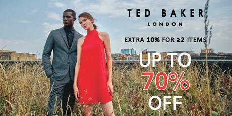 Ted Baker Flash Sale - Up to 70% Off tickets