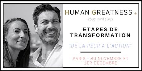 Séminaire - De la PEUR à l'ACTION - PARIS billets