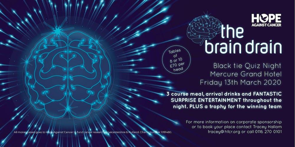 the brain drain quiz night