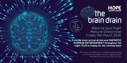 the brain drain quiz night