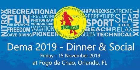 IANTD Dinner & Social - DEMA 2019 tickets