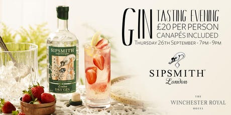 Gin Tasting with Sipsmith tickets