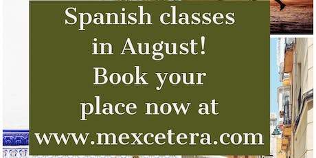 Spanish courses in August tickets