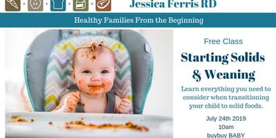 FREE TALK  with a dietitian!  Starting Solids and Weaning!