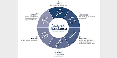 Presentación Seminario Vivir con Abundancia: 5 claves prácticas para mejorar tu relación con el dinero entradas