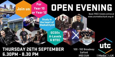 UTC@MediaCityUK Open Evening September tickets