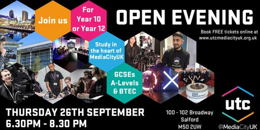 UTC@MediaCityUK Open Evening September