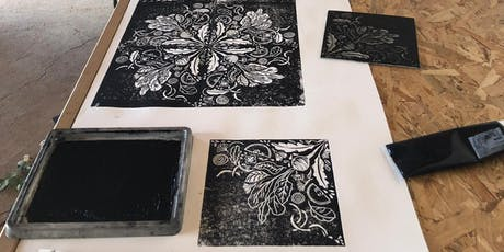LINO CUT WORKSHOP - WITH HARRIET POPHAM bilhetes