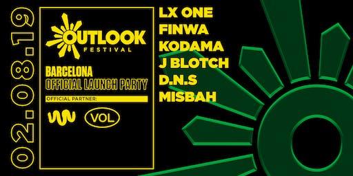 Outlook Festival Barcelona Launch : LX One, Finwa, Kodama + more