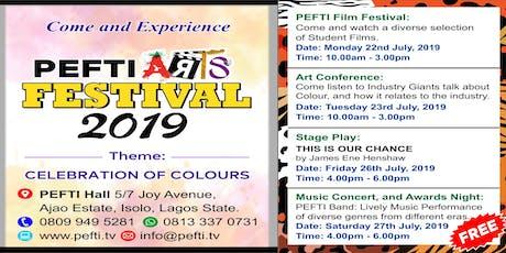 PEFTI Arts Festival 2019 tickets