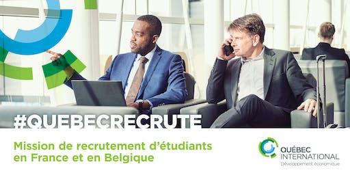 Mission de recrutement d'étudiants en France et en Belgique