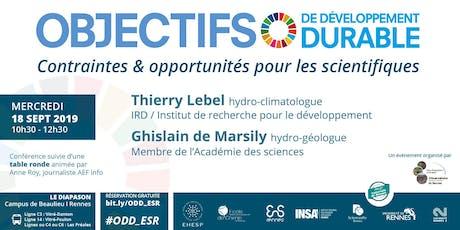 ODD : contraintes & opportunités pour les scientifiques billets