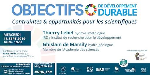 ODD : contraintes & opportunités pour les scientifiques