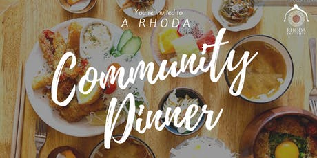 Rhoda Community Dinner tickets