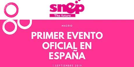 PRIMER EVENTO OFICIAL SNEP ESPAÑA - MADRID - 1 SEPTIEMBRE entradas