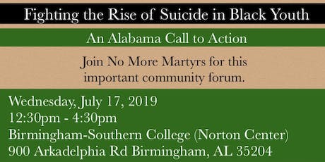 Fighting the Rise of Suicide in Black Youth - An Alabama Call to Action tickets