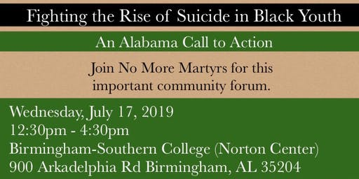 Fighting the Rise of Suicide in Black Youth - An Alabama Call to Action