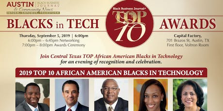 Black Business Journal Top 10 BLACKS IN TECH Awards Reception tickets