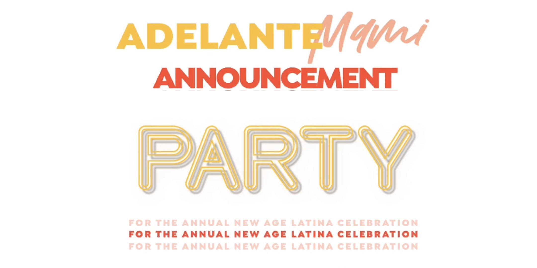 Celebration Announcement Party
